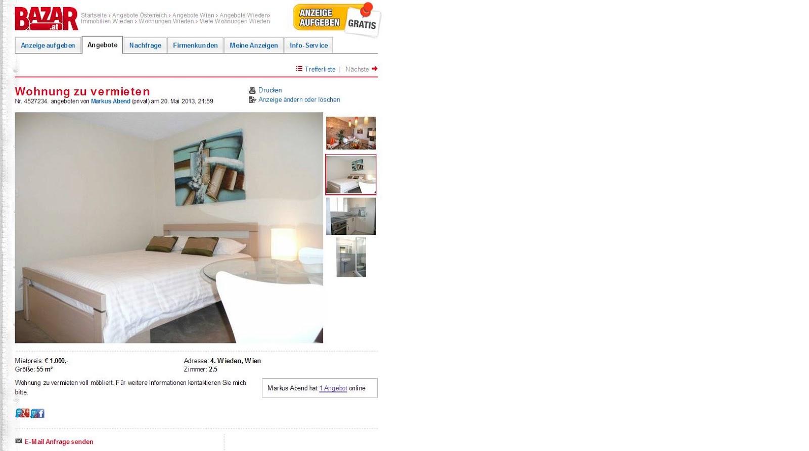 Wohnung zu vermieten 4 for Wohnung vermieten