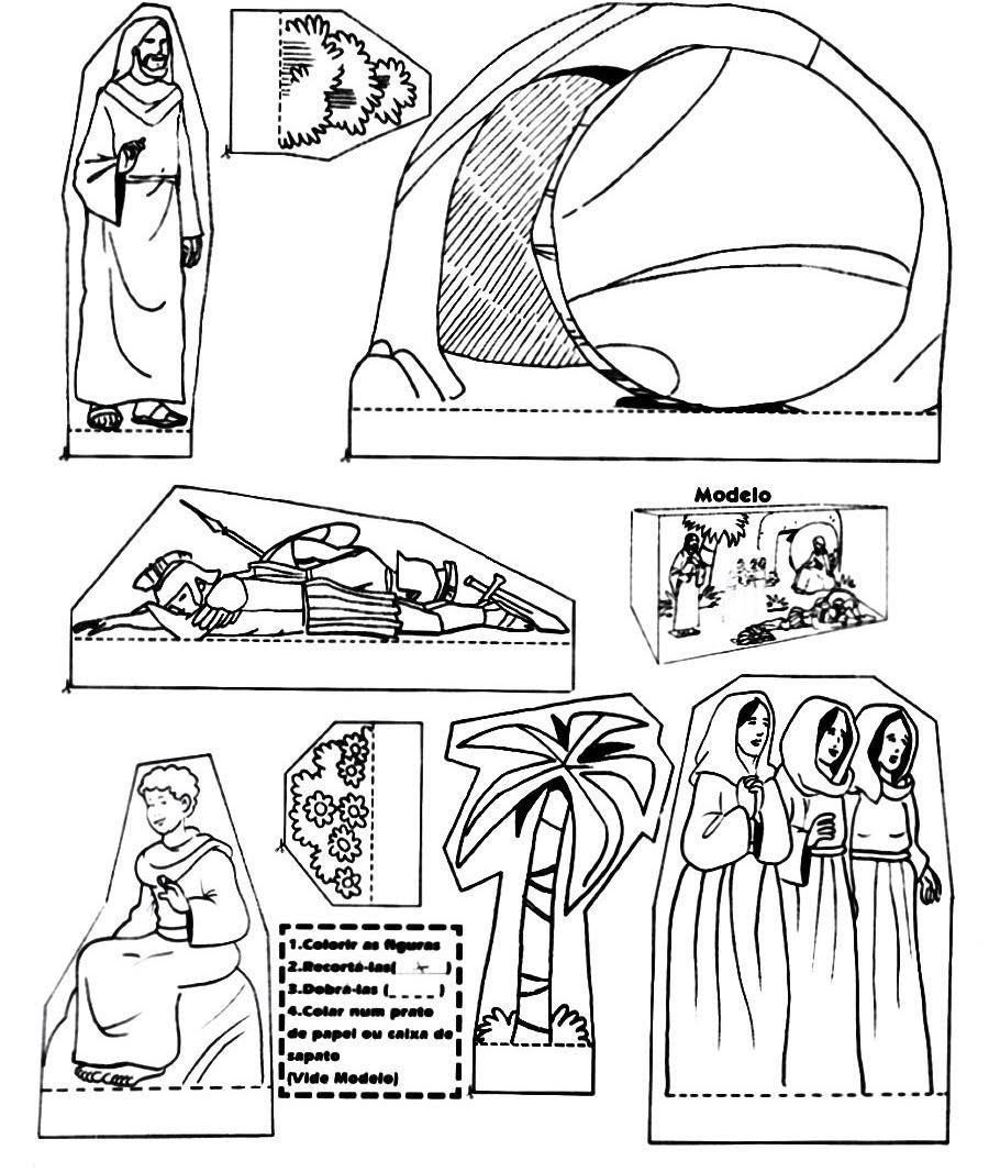 Educar con Jesús: Resurrección de Jesús. Montajes