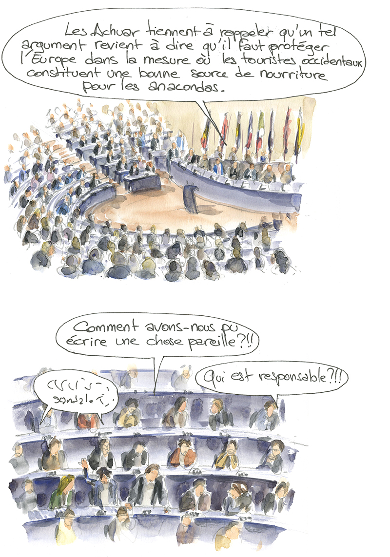 Achuar, Jivaros, parlement européen, animisme, valeur intrinsèque et valeur utilitariste de la nature