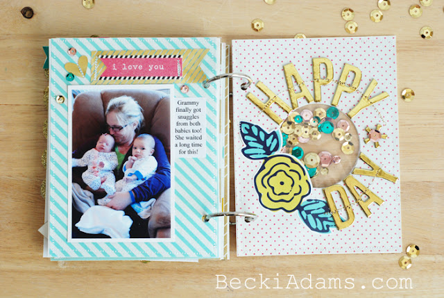 Create a Mini Album with the HSN We R Memory Keepers Fuse Tool Kit with @jbckadams Becki Adams [ad]  #scrapbooking #Minialbum #papercrafting #WRMKFuse