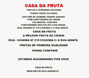 CASA DA FRUTA - FRANGO ASSADO ELÉTRICO