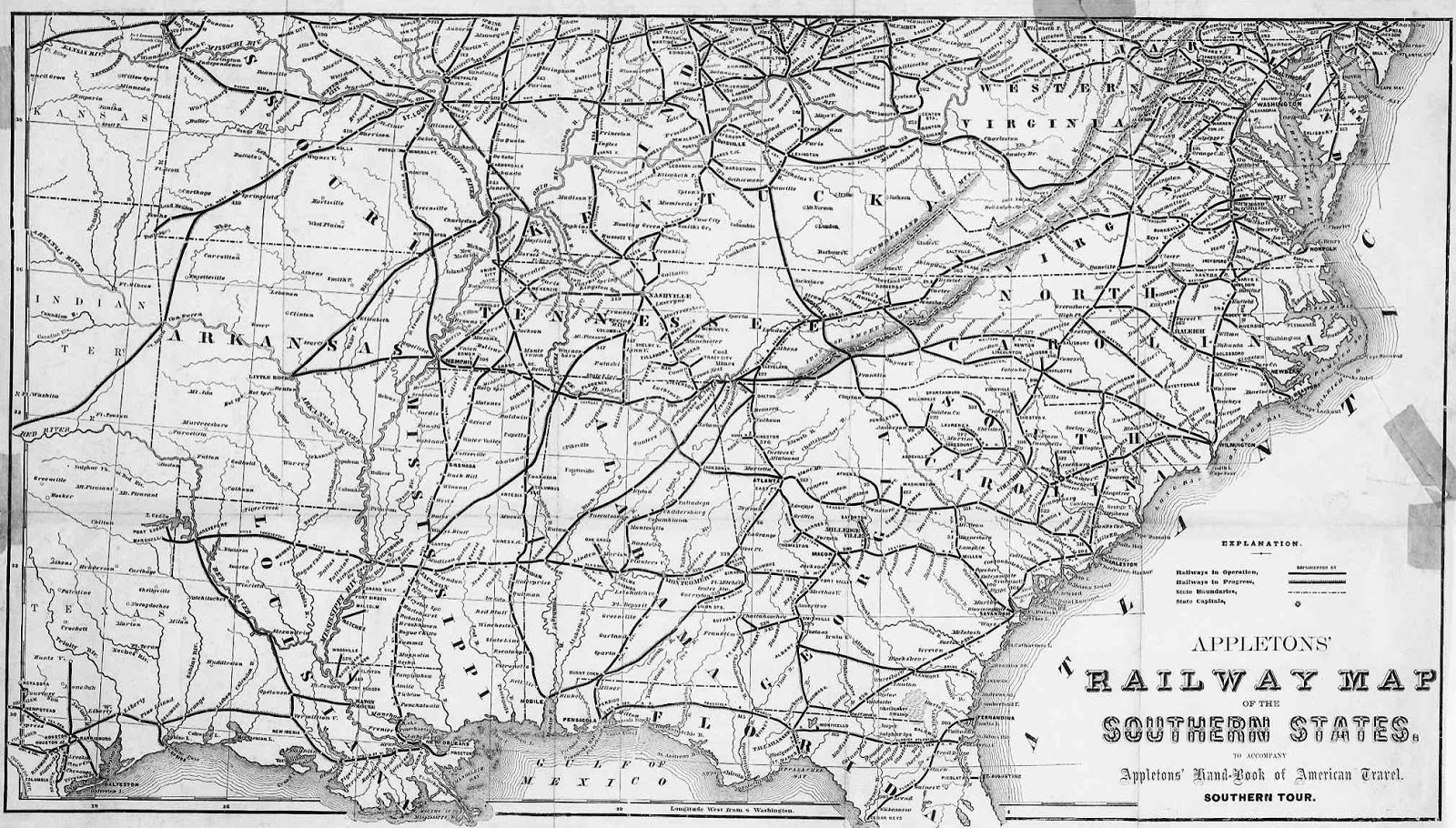 Progressive Development Of US Railroads  From US Railroad - Southeast us rail map