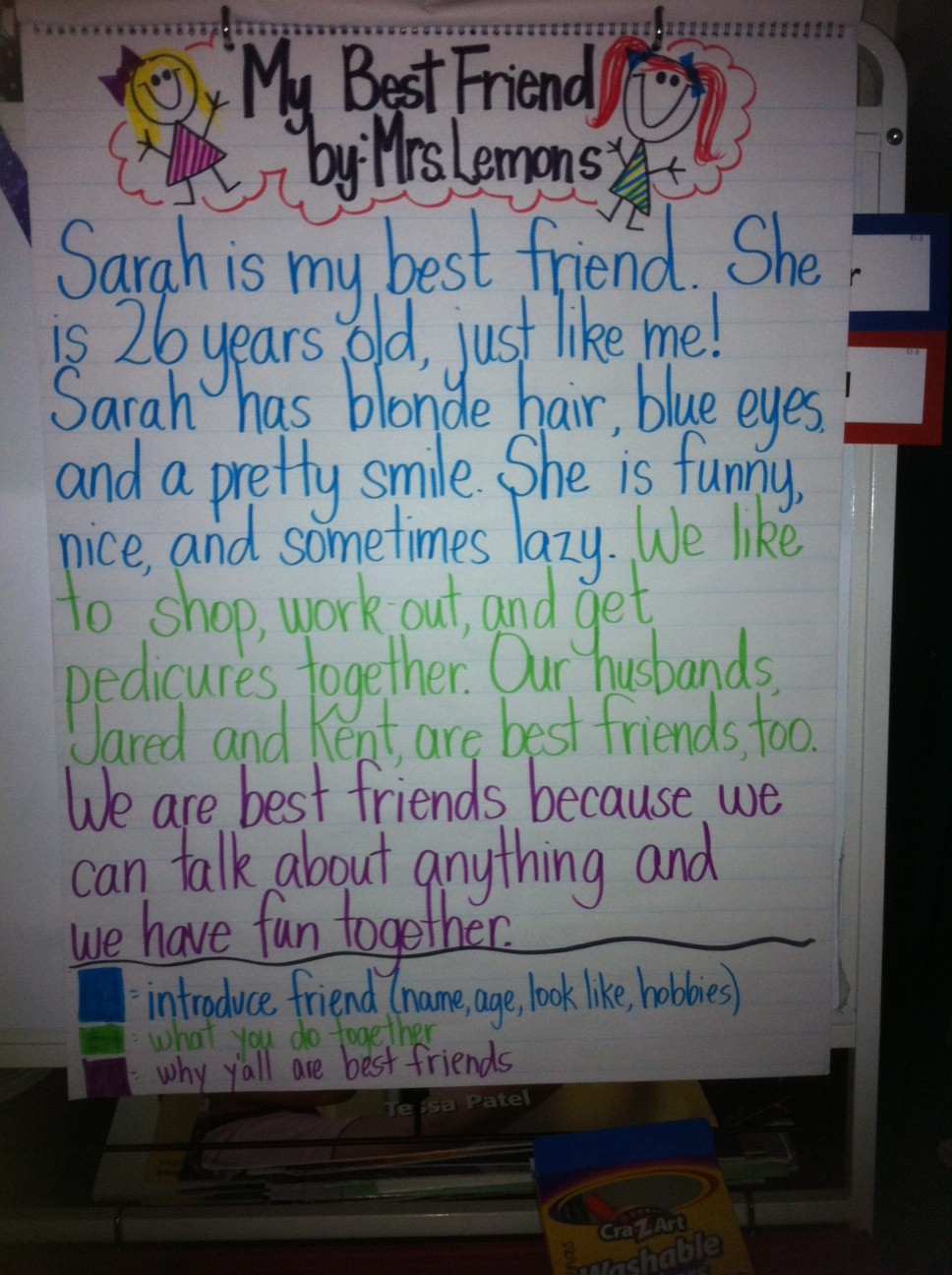 write an essay about your best friends