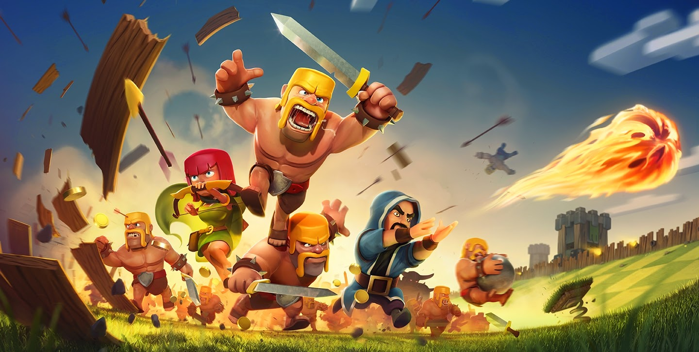 Piyoosh Rai uses an image from Clash of Clans to complement the blog post.