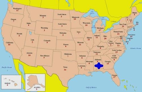 Alabama Eyaletinin Yeri