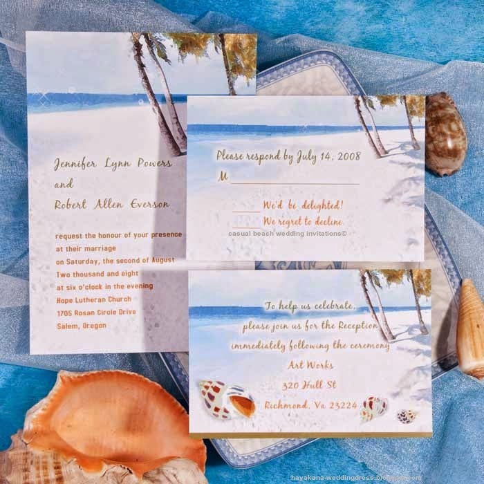 casual beach wedding invitations