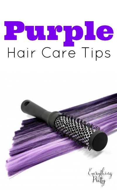Purple Hair Care Tips
