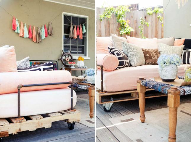 sofa dari kayu palet bekas
