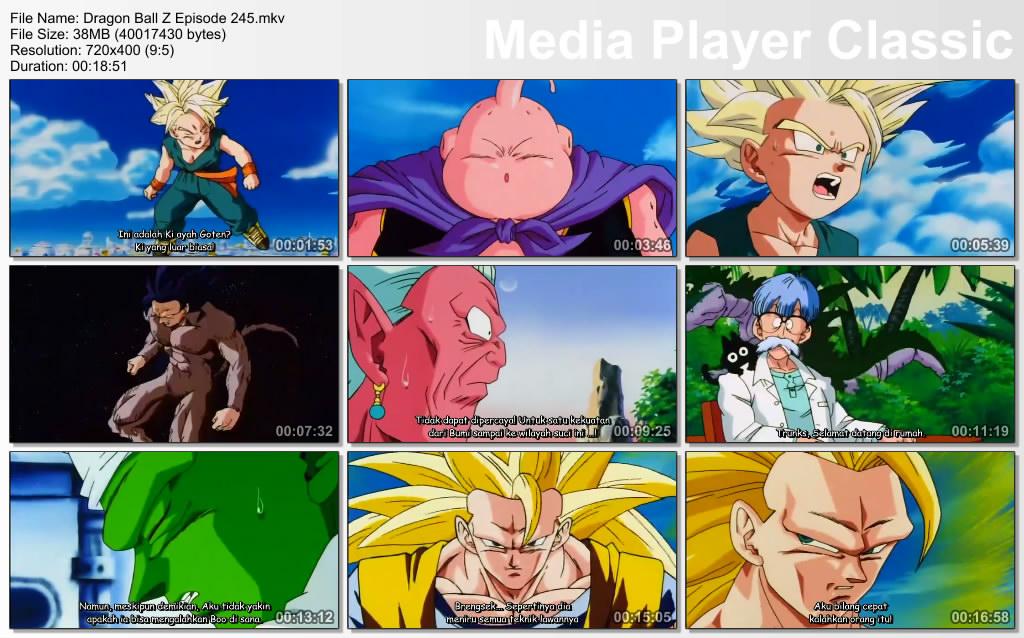 Download Film / Anime Dragon Ball Z Majin Buu Saga Episode 245 Bahasa