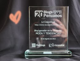 Premio al Mejor Blog de Moda y Tendencias del ao!