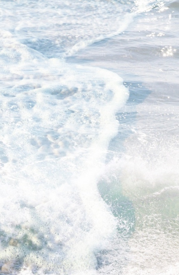 summer moodboard clear blue ocean beach