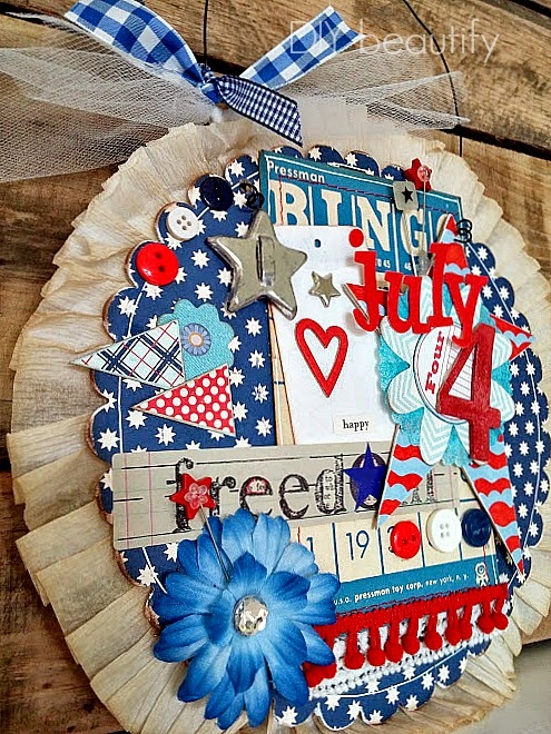 Vintage-inspired July 4th door decor www.diybeautify.com