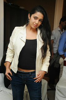 Actress Charmi Kaur Pictures in Jeans at One by Two Movie Celetes 20 Years Event 0078