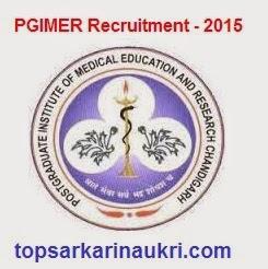 Sarkari-naukri -2015, sarkari-naukri,pgimer-recruitment