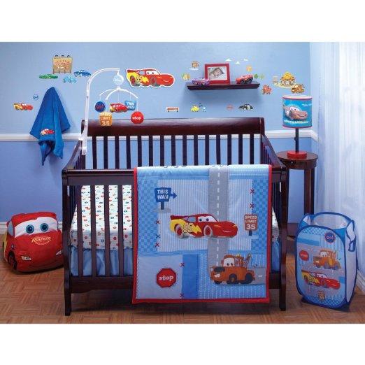 Car Crib Sheet : Race car crib bedding really y nursery decor for less