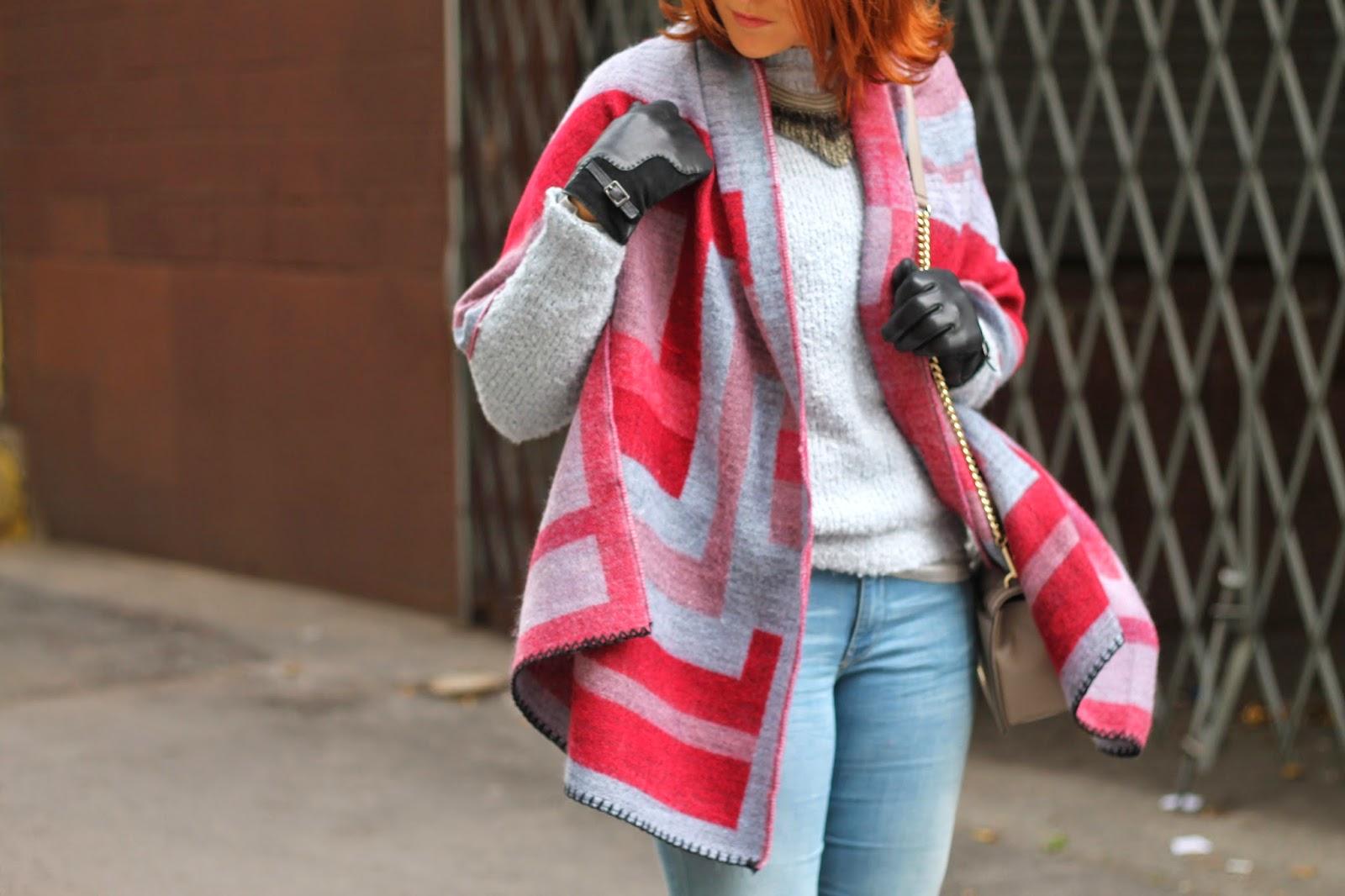 topshop, geometric, scarf