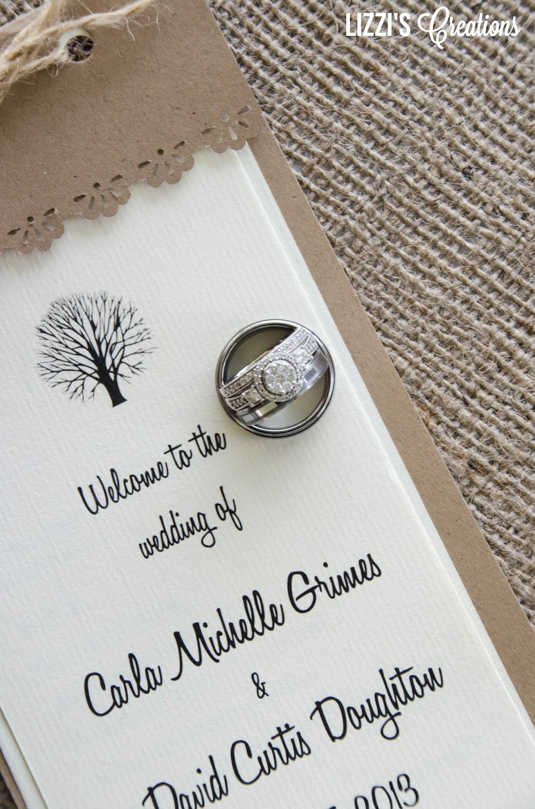 Lizzis creations project wedding invitations and programs thanks for joining me for my project wedding series click below to see other projects from carla and davids wedding monicamarmolfo Choice Image