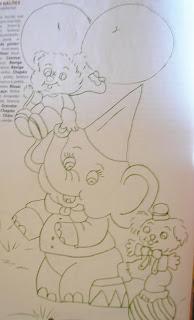 desenho de elefante com cachorro e ursinho para pintar