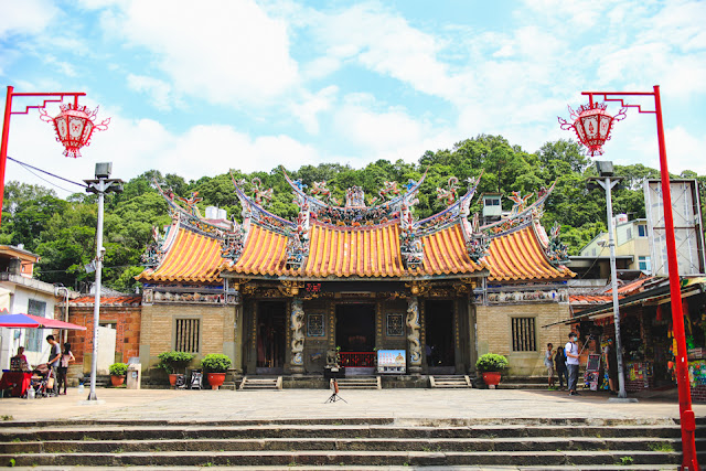 a colorful temple in Beipu, Taiwan