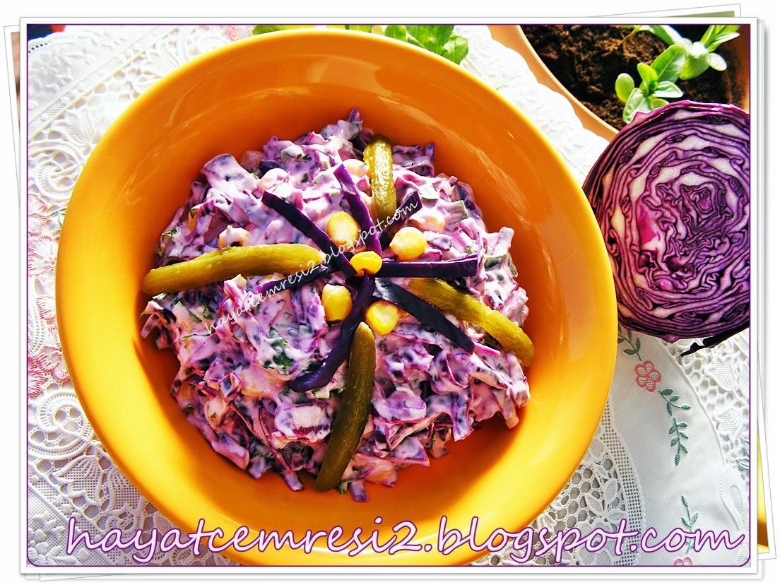 Mor Lahana Salatası – (Az Malzemeli) Tarif Dergisi Yemek Tarifleri