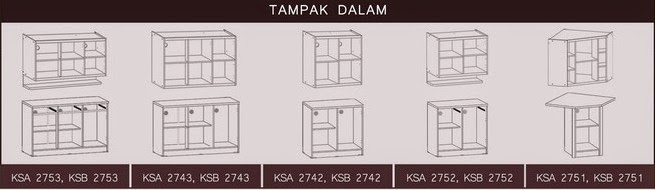 Tampak Dalam Kitchen Set Bougenville Series Graver Furniture