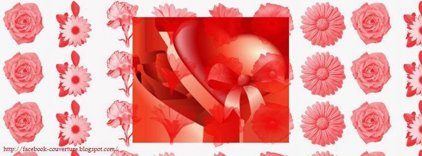 Couverture pour facebook st valentin