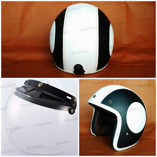 Helm Retro Classic Model Embos Vespa