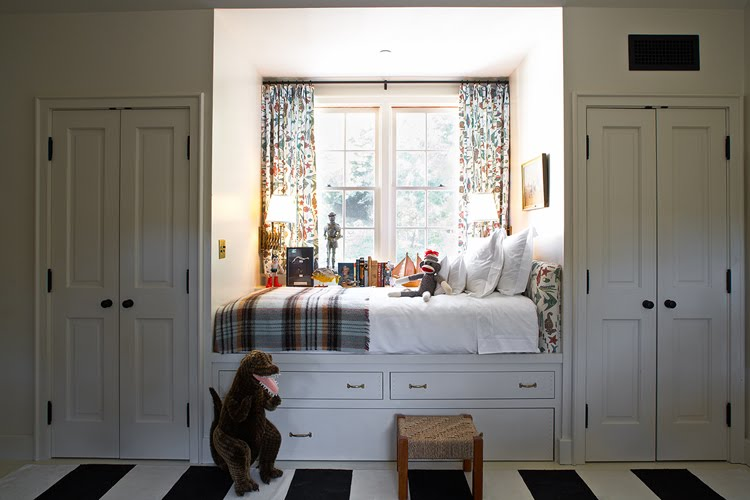 this little boy 39 s room incorporates a built in bed that adds lots f