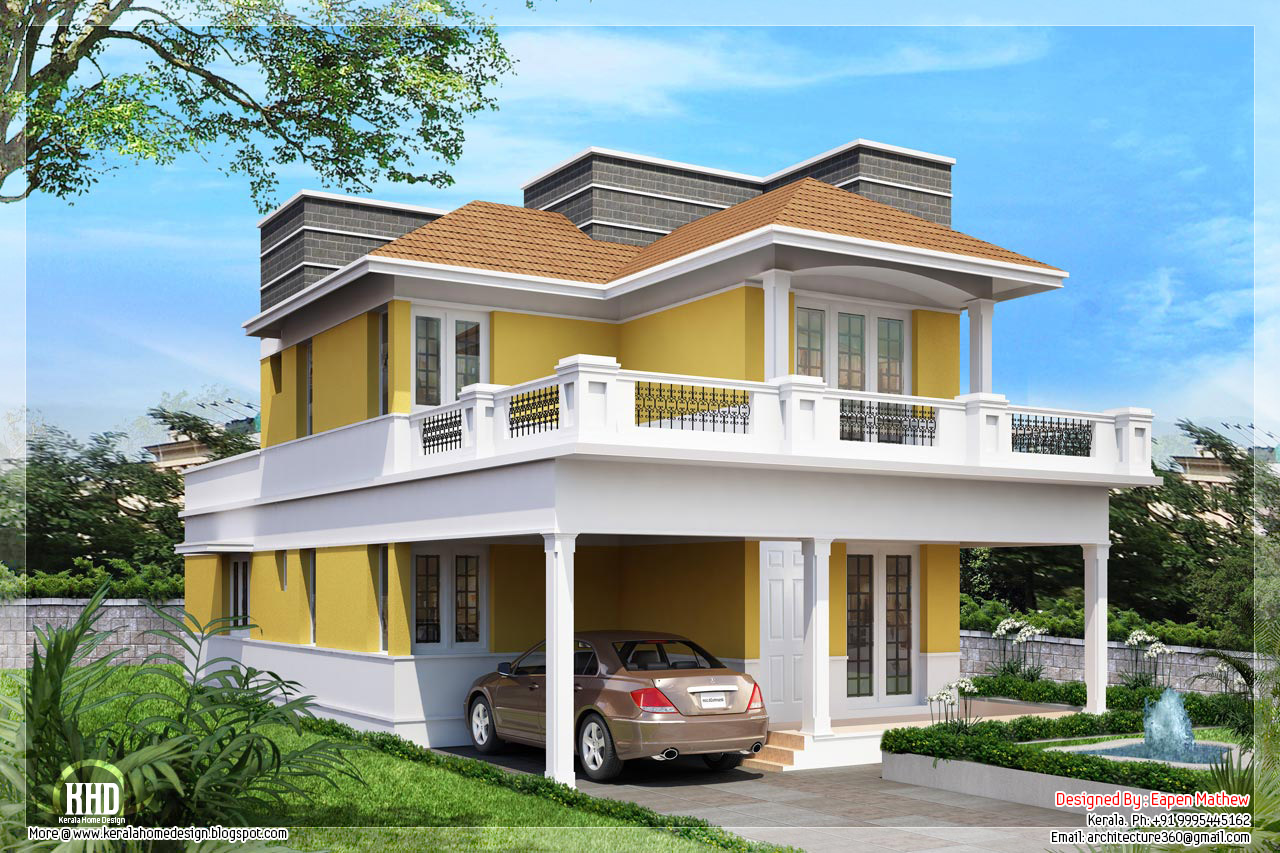14 beautiful villa elevations kerala home design and for Beautiful house style