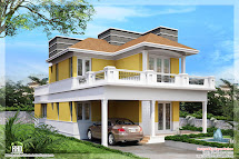 Beautiful Villa Elevations - Kerala Home Design And