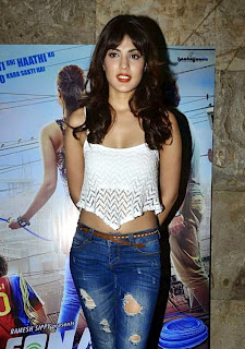 Rhea Chakraborty Pictures in Ripped Jeans at Sonali Cable Movie Trailer Launch  5