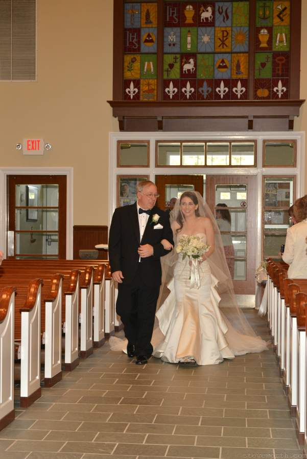 Dad walkding Bride down the aisle