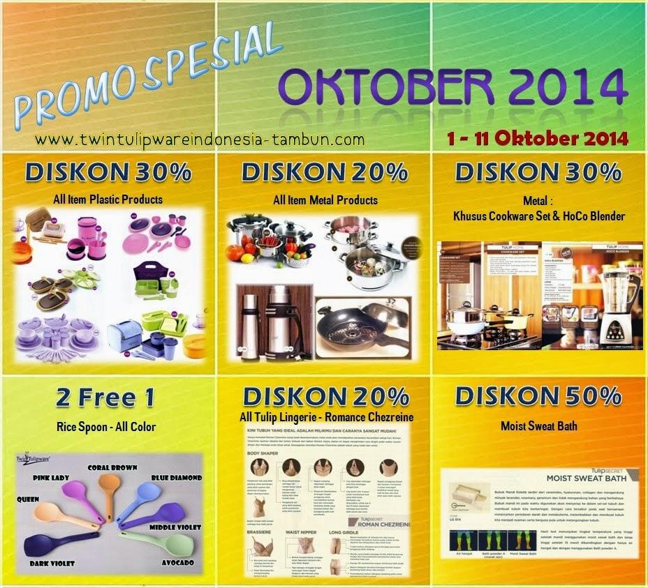 Promo Spesial Tulipware Oktober 2014