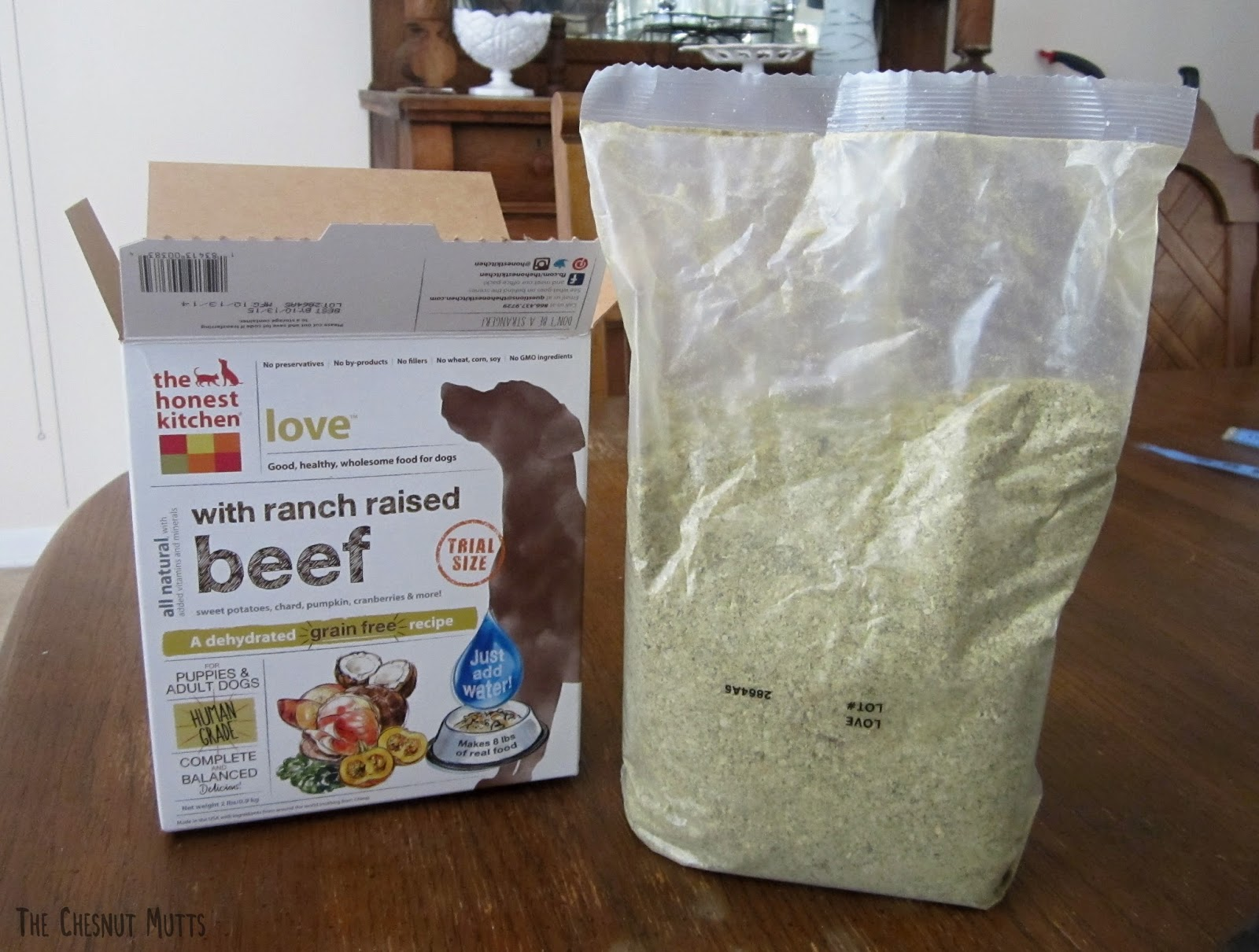 the honest kitchen love with ranch raised beef trial box 2 pound