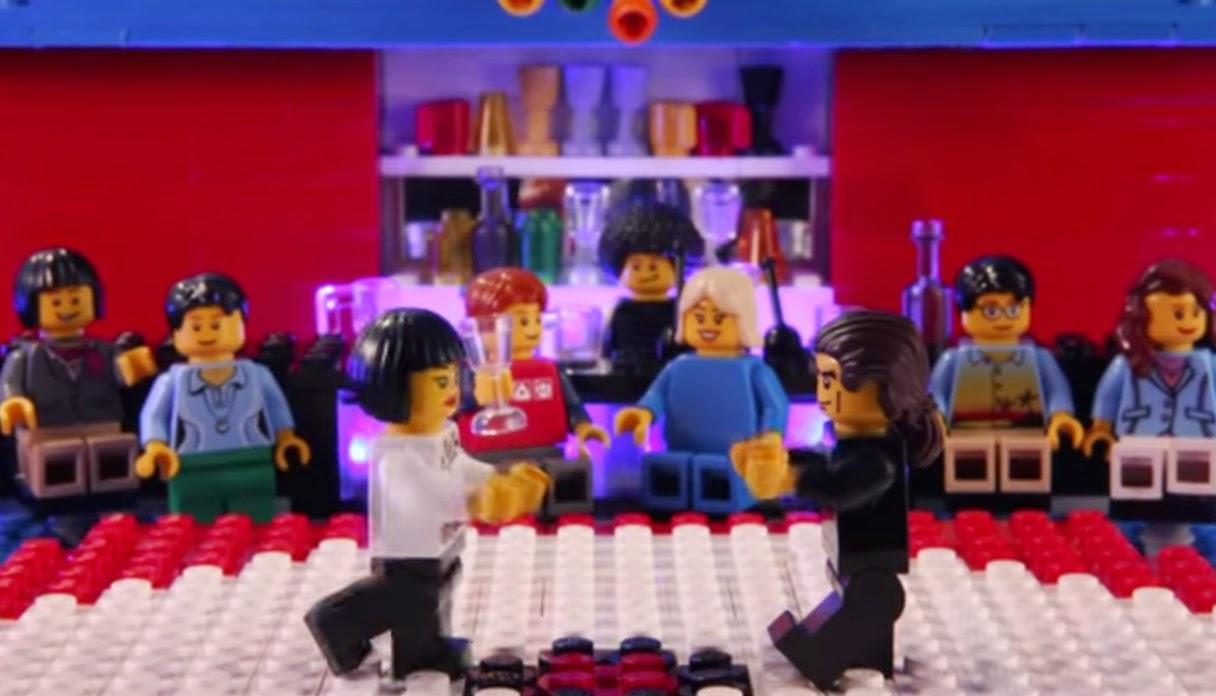 Los muñecos de Lego emulan el baile de John Travolta y Maria de Medeiros en el largometraje Pulp Fiction