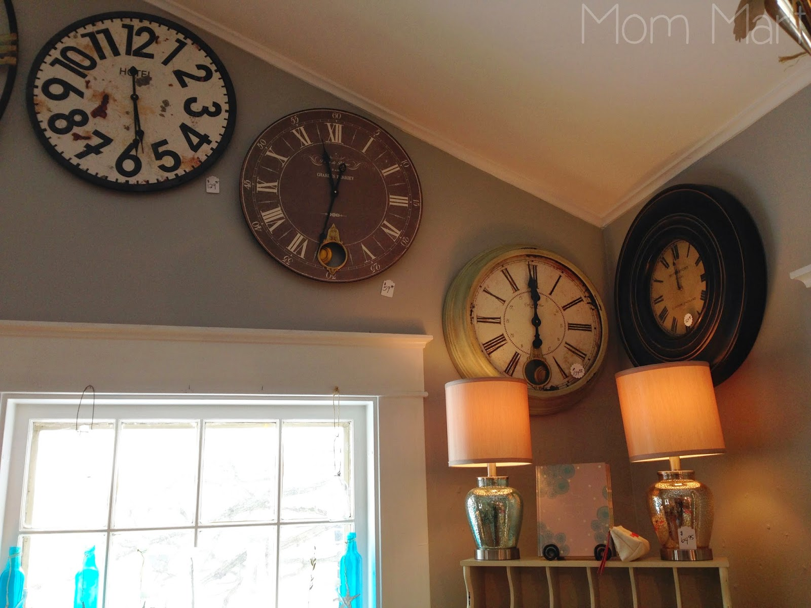 Shopping for home goods #Shopping #ForTheHome #Decorate #WallClock #HomeDecor