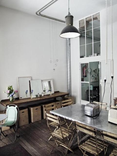 villa vanilla wohnzimmer:Industrial Shabby Chic Kitchen