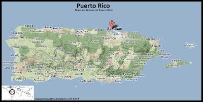 Mapa de Puerto Rico, Vista Satelital