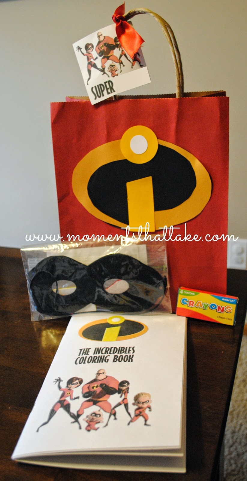 Incredibles Birthday Party Favors