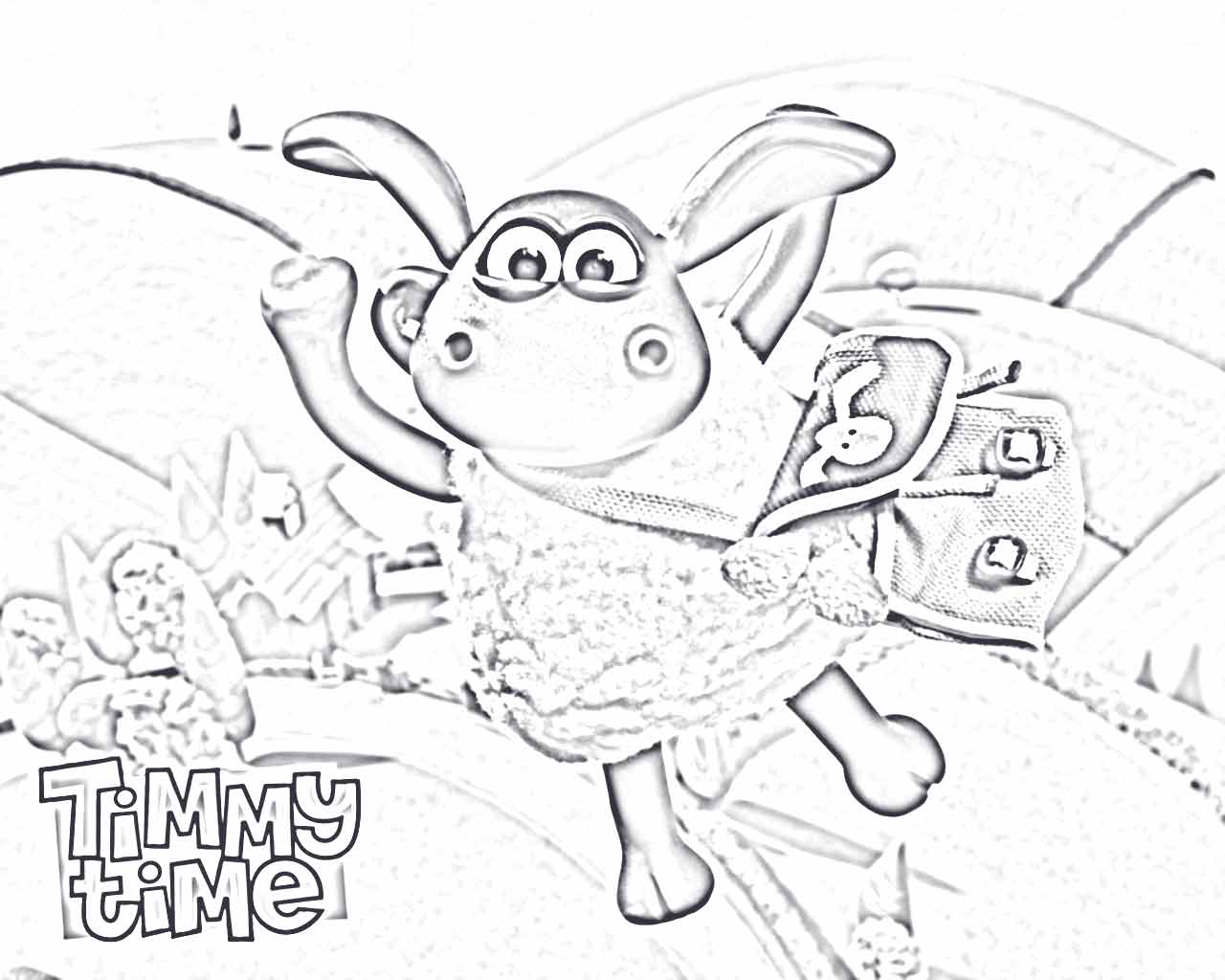Shaun the sheep pictures for coloring 2