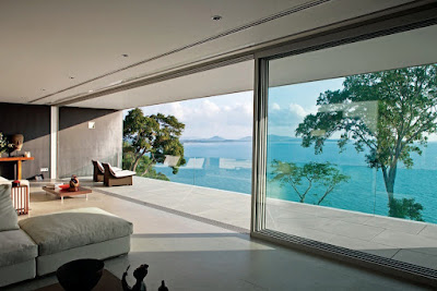 There are extensive views from all the principal rooms over Phang Na Bay