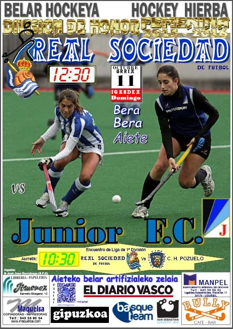 Cartel hockey 2015-10-11 Real Sociedad - Junior F.C.