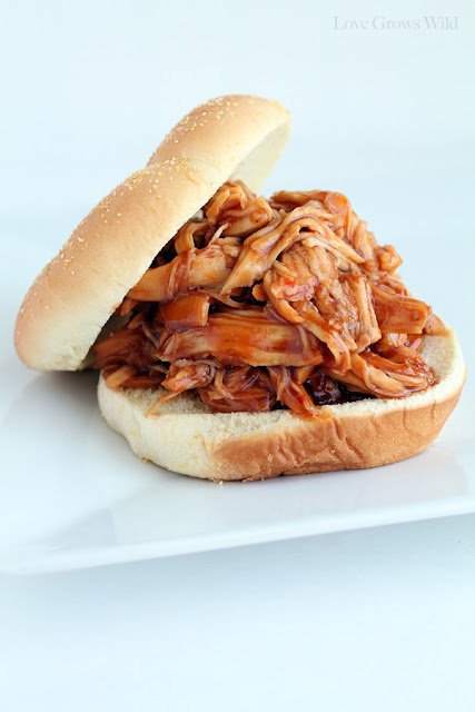Slow Cooker Honey Barbecue Sandwiches by LoveGrowsWild.com for Uncommon Designs
