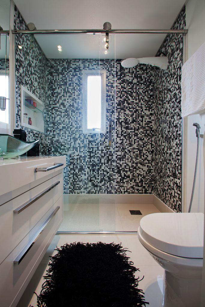 ARQUIFAROFA  Arquitetura e design Fevereiro 2012 -> Banheiro Pequeno Com Ceramica Preta