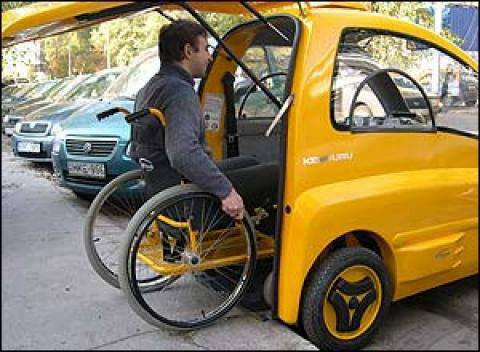 Car wheelchair users to get around.