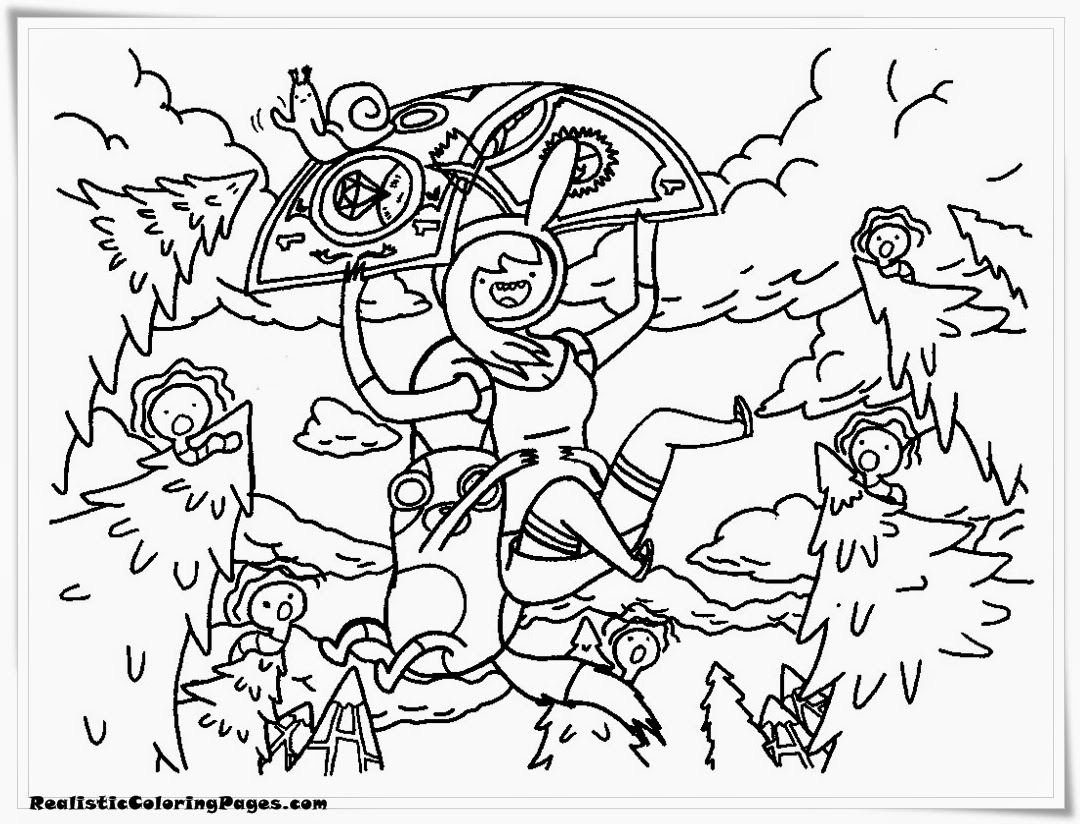 Adventure Time Coloring Pages For Kids Printable