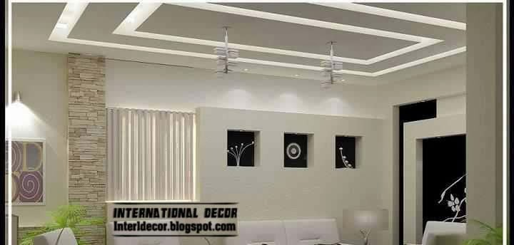 False ceiling pop designs with led ceiling lighting ideas 2018 for Pop interior design for hall