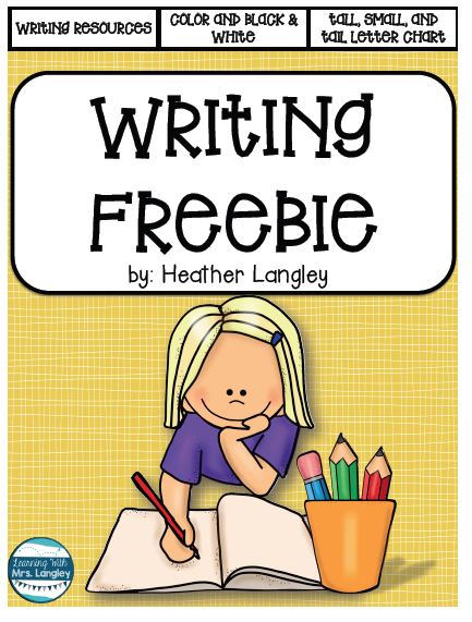 https://www.teacherspayteachers.com/Product/Writing-Resources-1914389