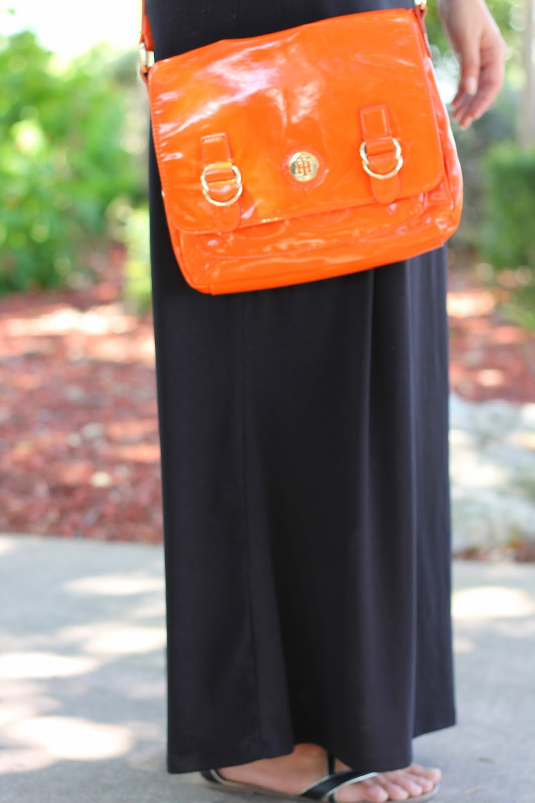 tommy hilfiger bag and maxi skirt