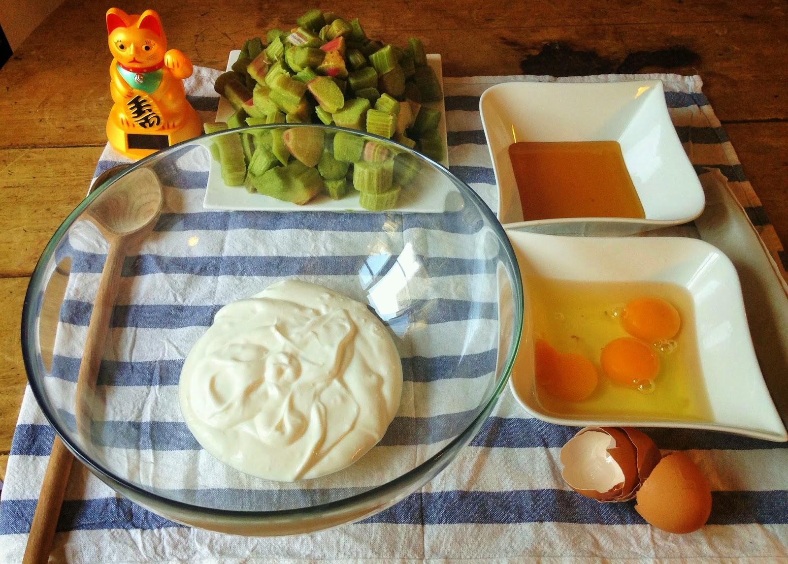 la laiterie de paris tarte la rhubarbe au miel et au fromage blanc de ch vre. Black Bedroom Furniture Sets. Home Design Ideas